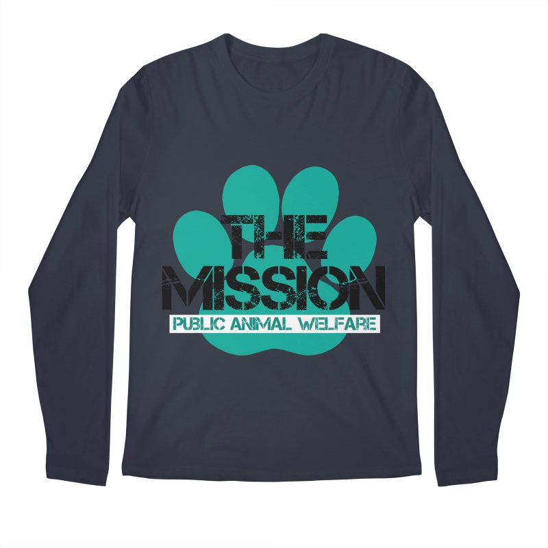 PAW Logo Men's Regular Longsleeve T-Shirt by The PAW Mission