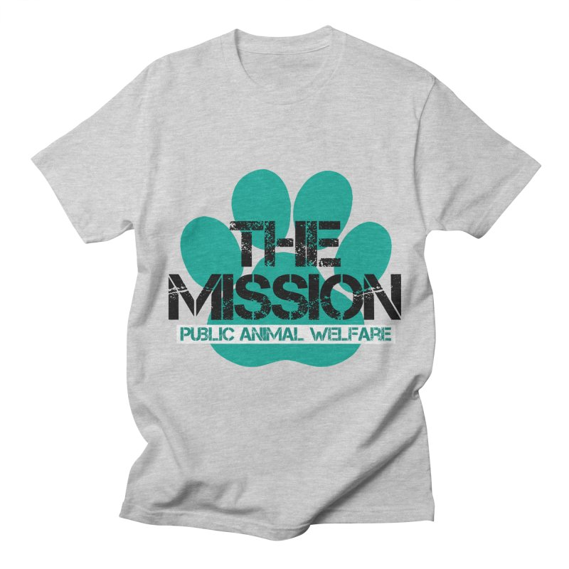 PAW Logo Men's Regular T-Shirt by The PAW Mission