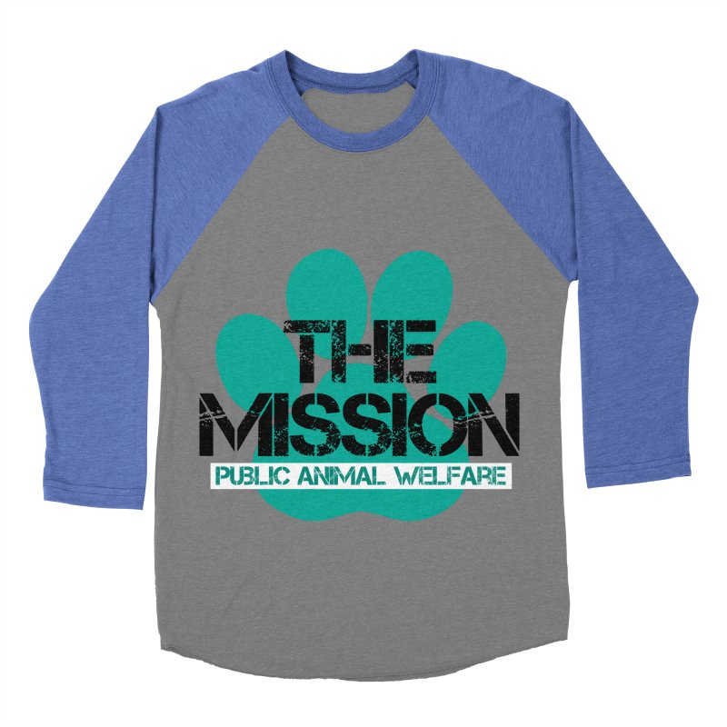 PAW Logo Women's Baseball Triblend Longsleeve T-Shirt by The PAW Mission