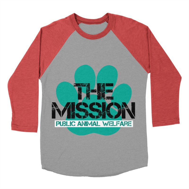 PAW Logo Men's Baseball Triblend Longsleeve T-Shirt by The PAW Mission