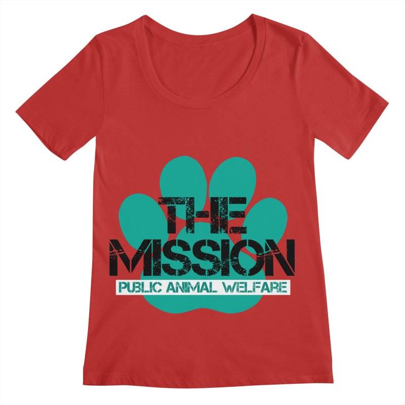 PAW Logo Women's Regular Scoop Neck by The PAW Mission