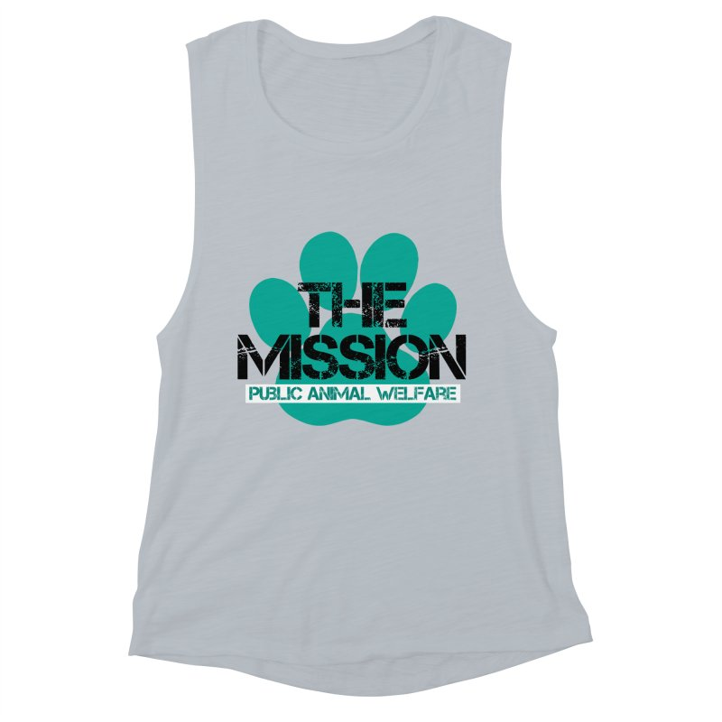 PAW Logo Women's Muscle Tank by The PAW Mission