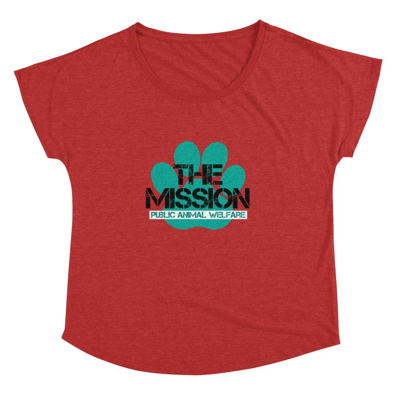 PAW Logo Women's Dolman Scoop Neck by The PAW Mission