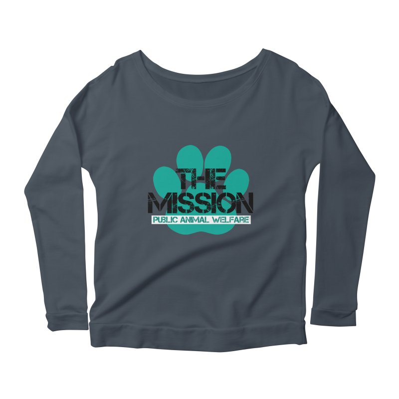 PAW Logo Women's Scoop Neck Longsleeve T-Shirt by The PAW Mission