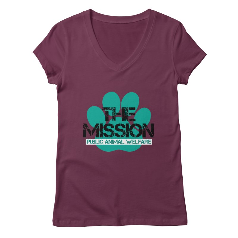 PAW Logo Women's Regular V-Neck by The PAW Mission