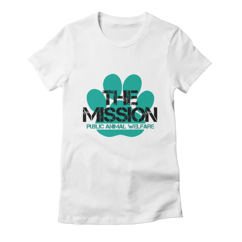 PAW Logo Women's Fitted T-Shirt by The PAW Mission