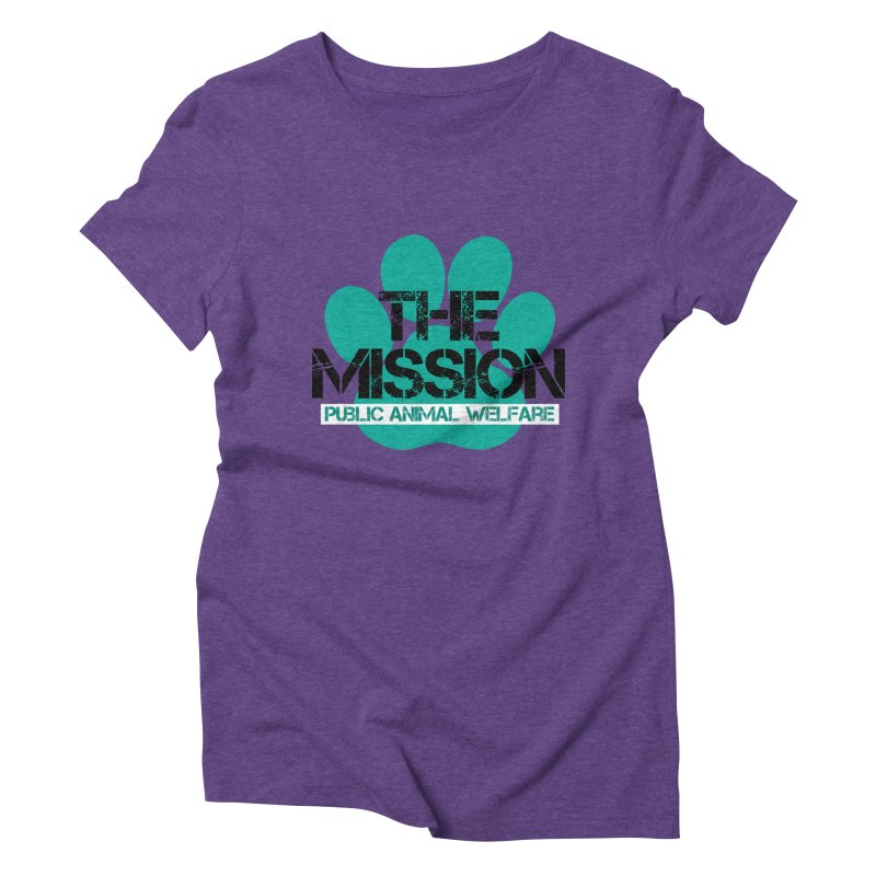 PAW Logo Women's Triblend T-Shirt by The PAW Mission