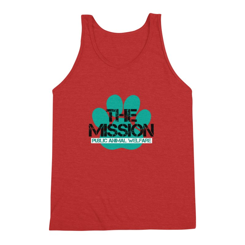 PAW Logo Men's Triblend Tank by The PAW Mission