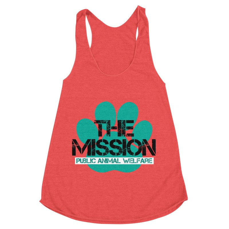PAW Logo Women's Racerback Triblend Tank by The PAW Mission
