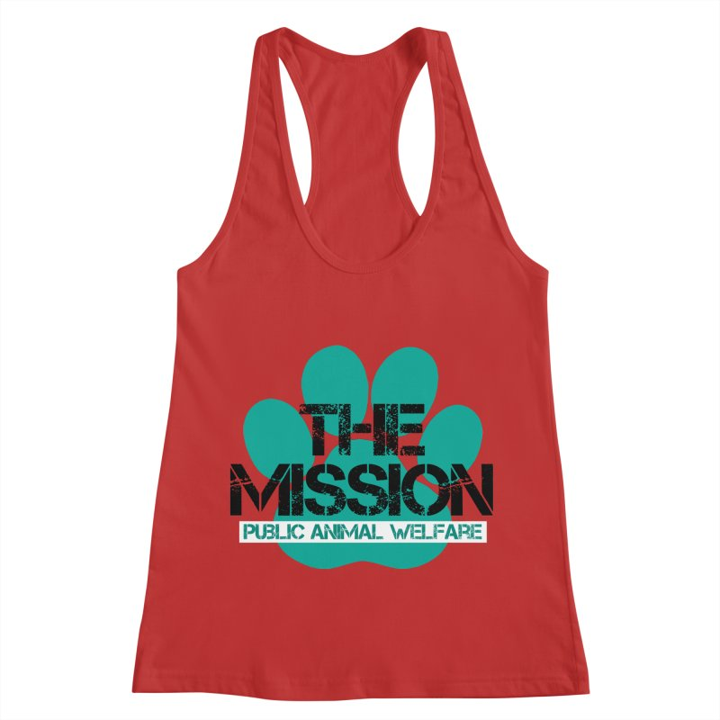PAW Logo Women's Racerback Tank by The PAW Mission