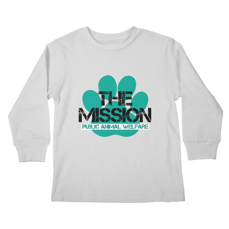 PAW Logo Kids Longsleeve T-Shirt by The PAW Mission