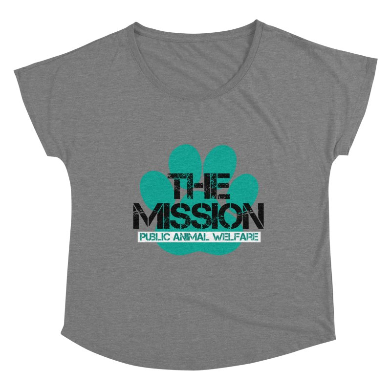 PAW Logo Women's Scoop Neck by The PAW Mission