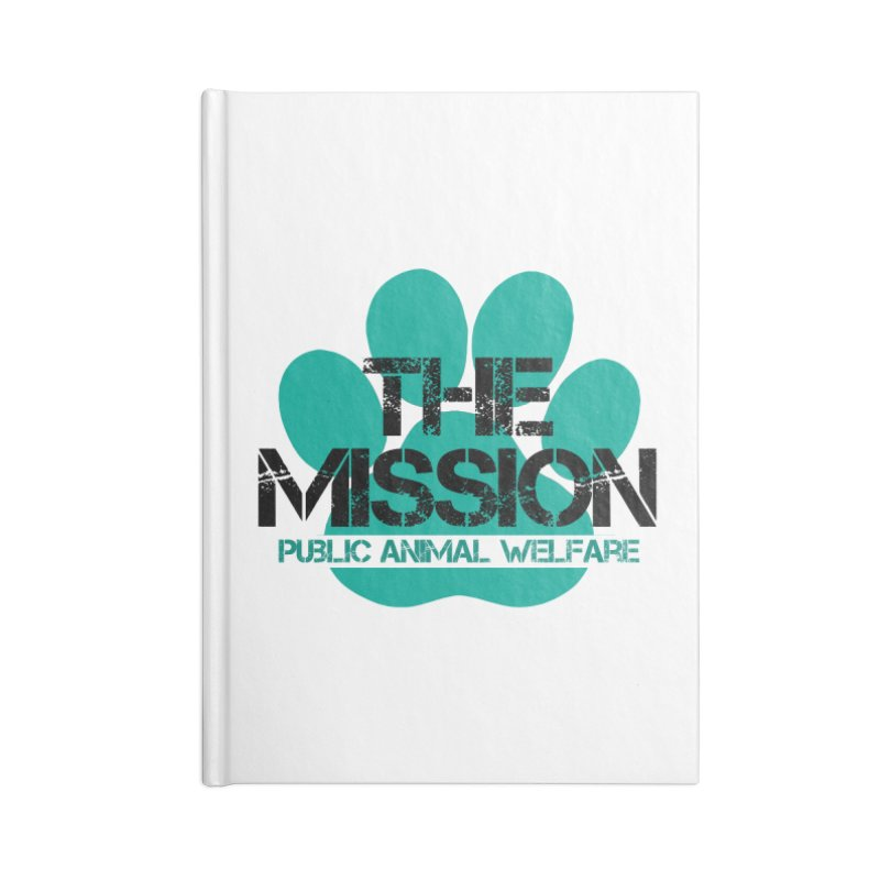 PAW Logo Accessories Lined Journal Notebook by The PAW Mission