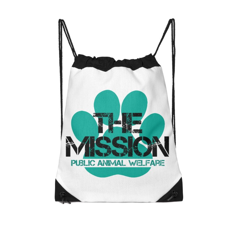 PAW Logo Accessories Drawstring Bag Bag by The PAW Mission