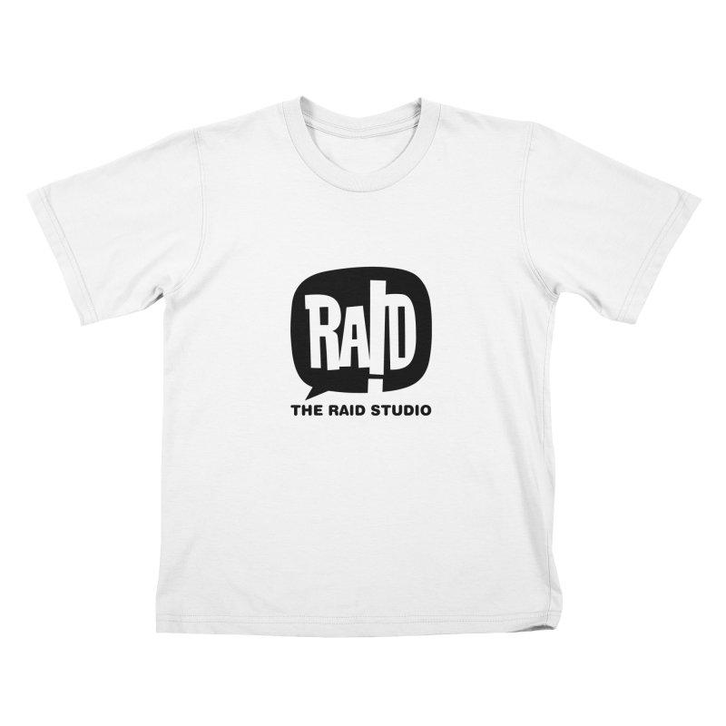 The RAID Studio / white Kids T-Shirt by THE RAID STUDIO