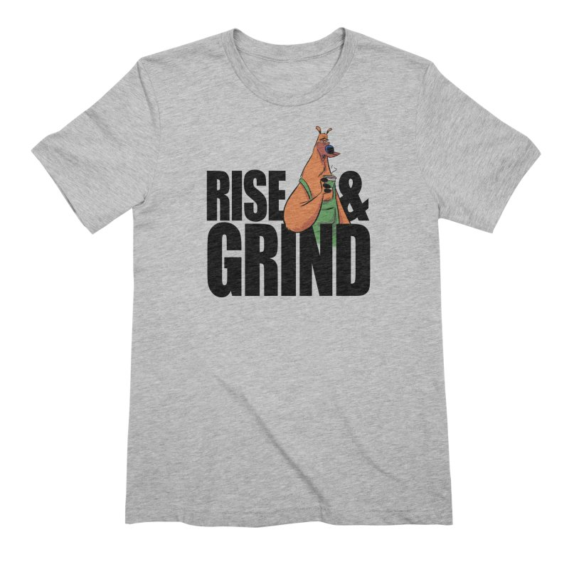 FOREST FOLK / Barry the Bearista - RISE & GRIND Men's T-Shirt by THE RAID STUDIO