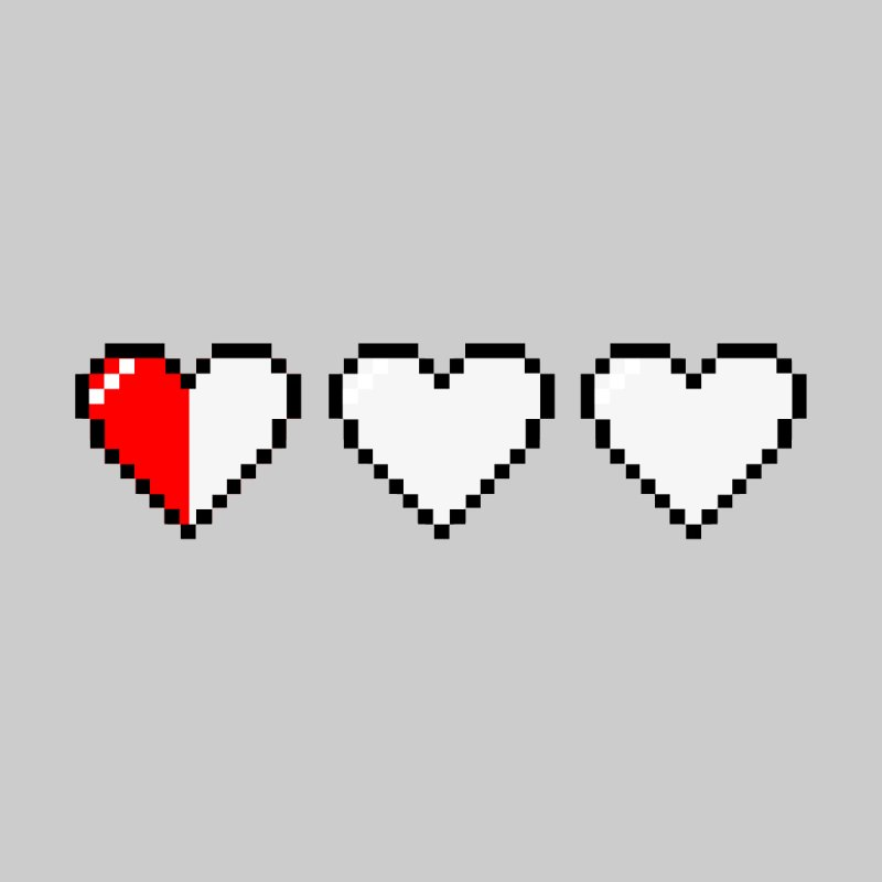 Last Half Of 3 Hearts by The Action Pixel Store
