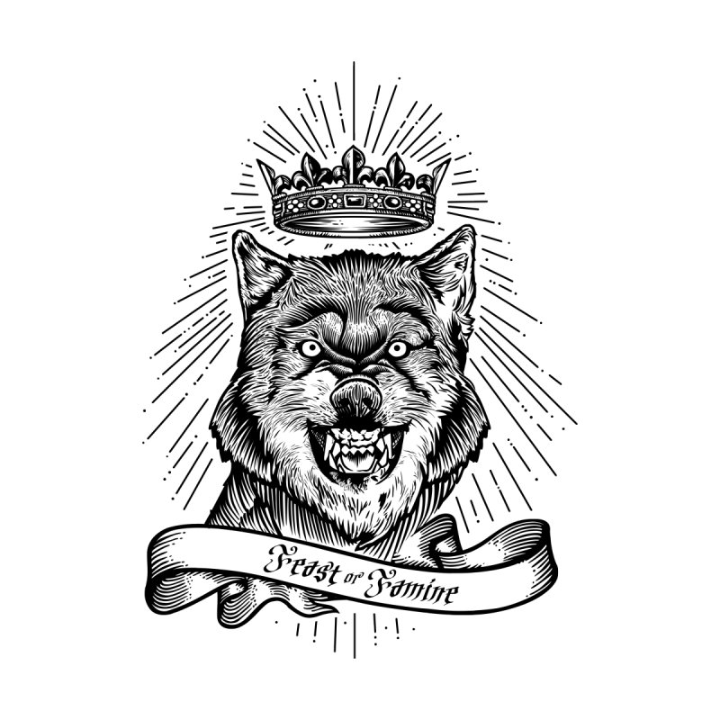 """""""Feast or Famine"""" Crowned Wolf by The Action Pixel Store"""