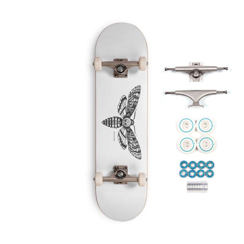 Deaths Head Moth Accessories Skateboard by artfulworldofjennylynn's Artist Shop
