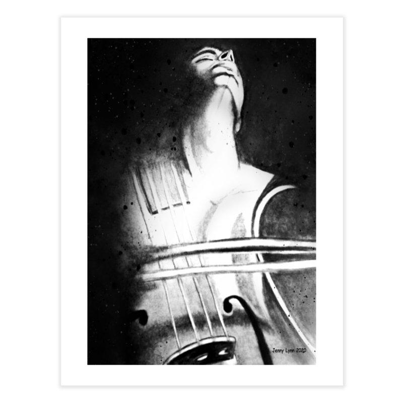 Man and a violin Home Fine Art Print by artfulworldofjennylynn's Artist Shop