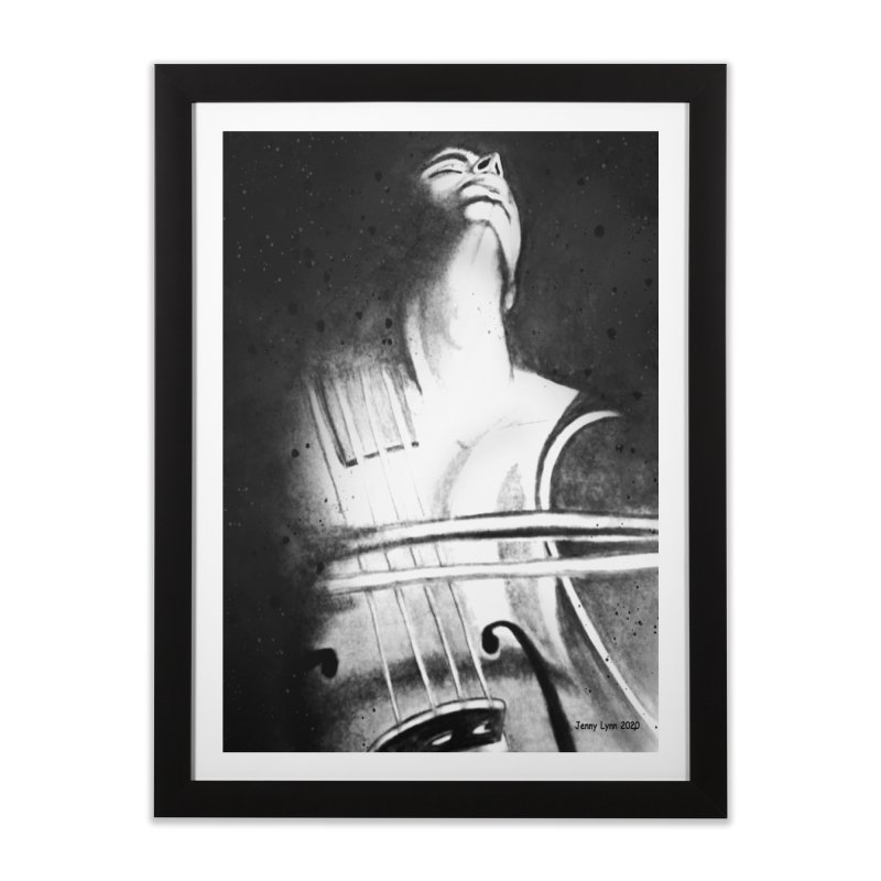 Man and a violin Home Framed Fine Art Print by artfulworldofjennylynn's Artist Shop