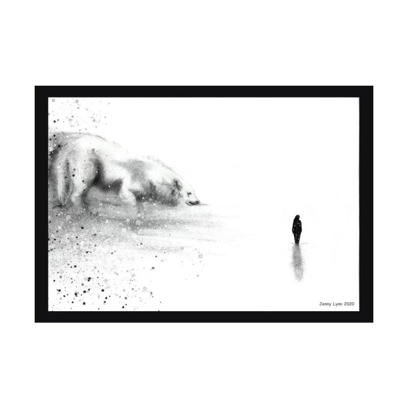 Wolf at the door Home Framed Fine Art Print by artfulworldofjennylynn's Artist Shop