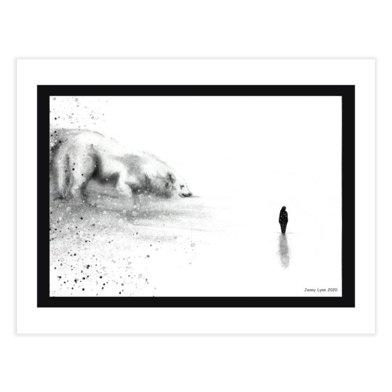 Wolf at the door Home Fine Art Print by artfulworldofjennylynn's Artist Shop