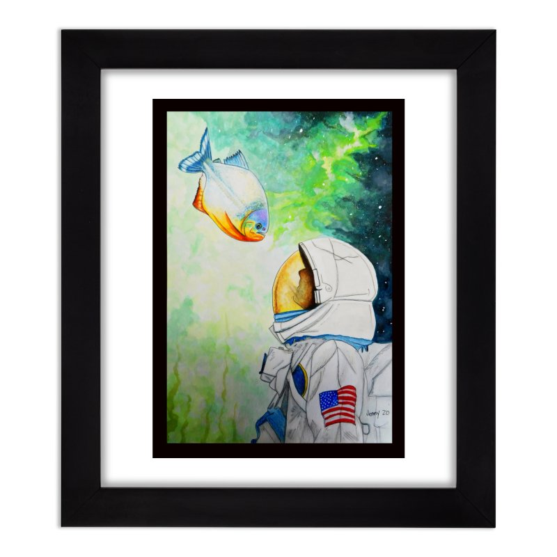 Armstrong and a Piranha Home Framed Fine Art Print by artfulworldofjennylynn's Artist Shop