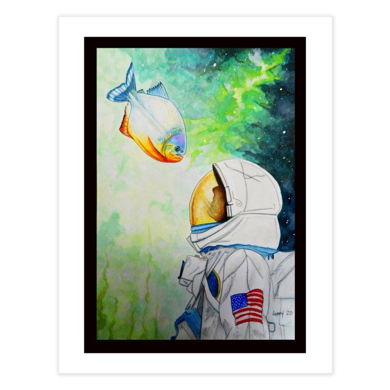 Armstrong and a Piranha Home Fine Art Print by artfulworldofjennylynn's Artist Shop