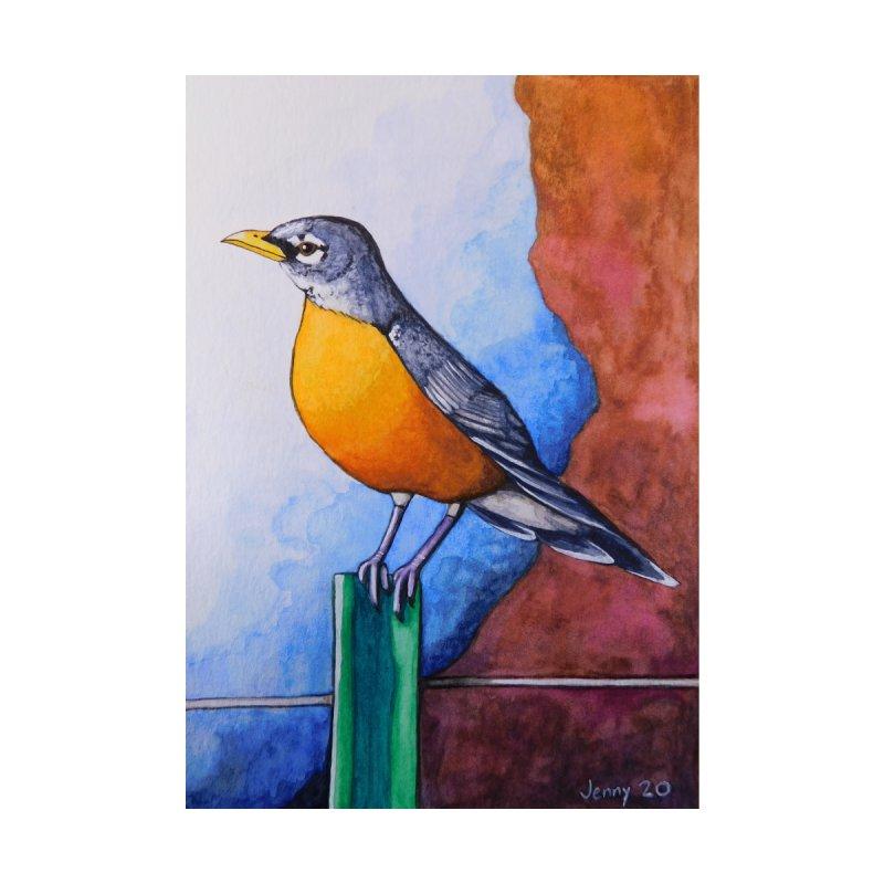 American Robin Home Framed Fine Art Print by artfulworldofjennylynn's Artist Shop