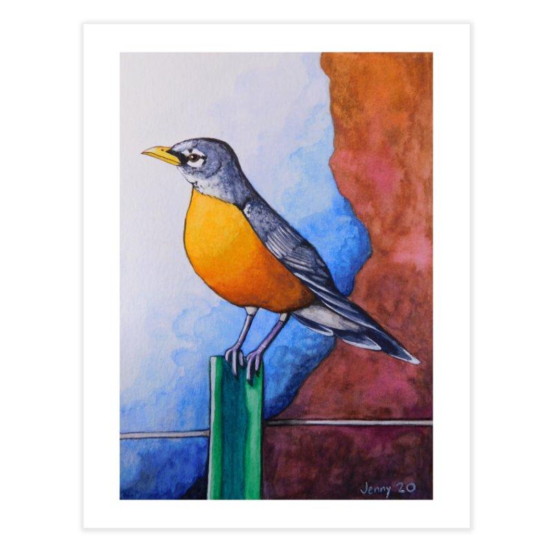 American Robin Home Fine Art Print by artfulworldofjennylynn's Artist Shop