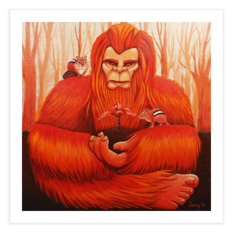 Bigfoot Home Fine Art Print by artfulworldofjennylynn's Artist Shop