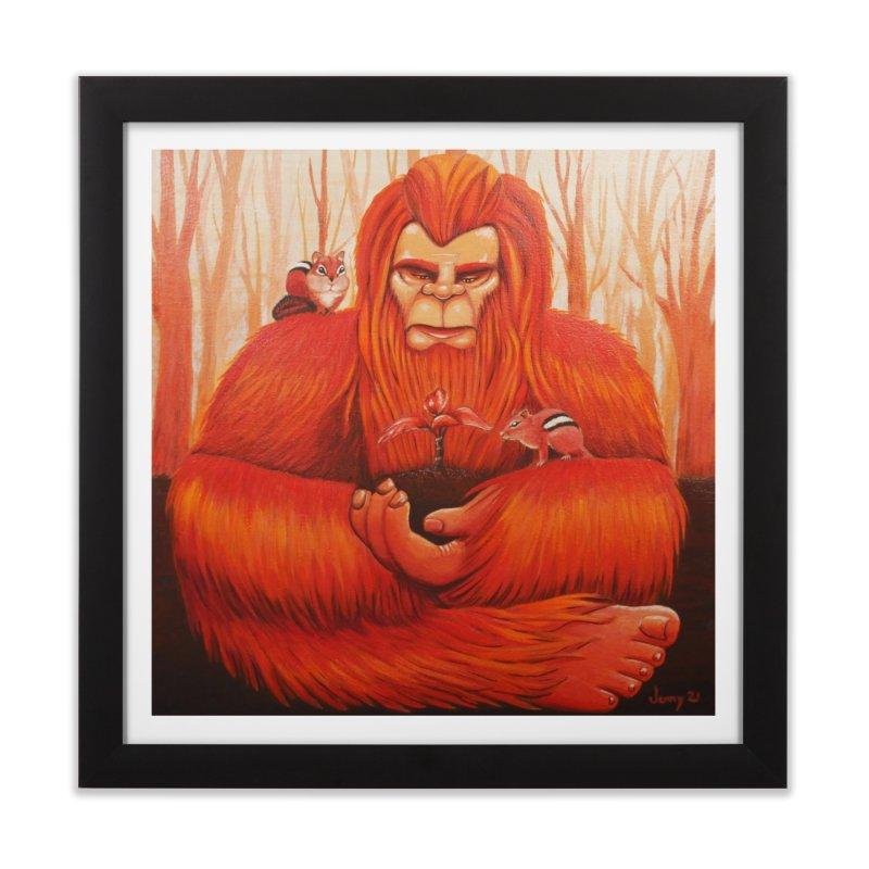 Bigfoot Home Framed Fine Art Print by artfulworldofjennylynn's Artist Shop