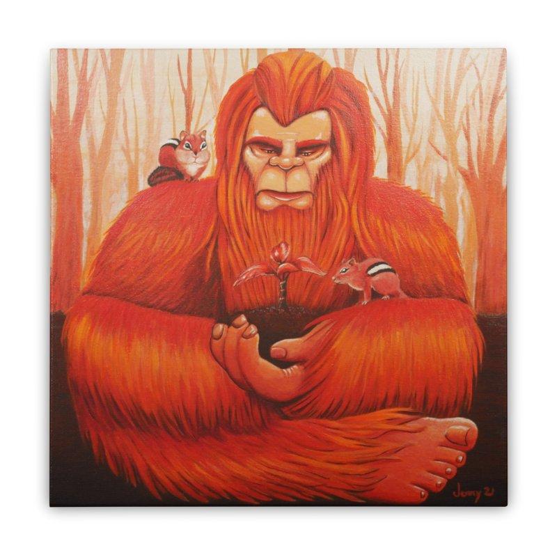 Bigfoot Home Stretched Canvas by artfulworldofjennylynn's Artist Shop