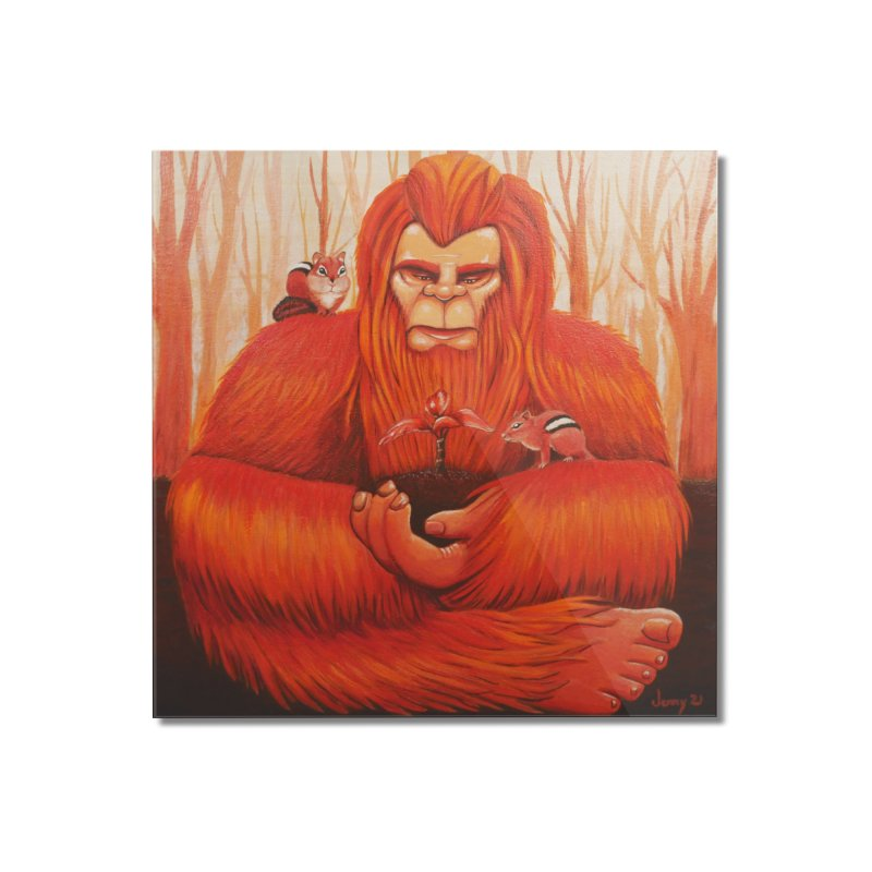 Bigfoot Home Mounted Acrylic Print by artfulworldofjennylynn's Artist Shop