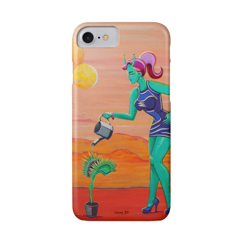 Martian Girl Pin-Up & Venus Fly Trap Accessories Phone Case by artfulworldofjennylynn's Artist Shop