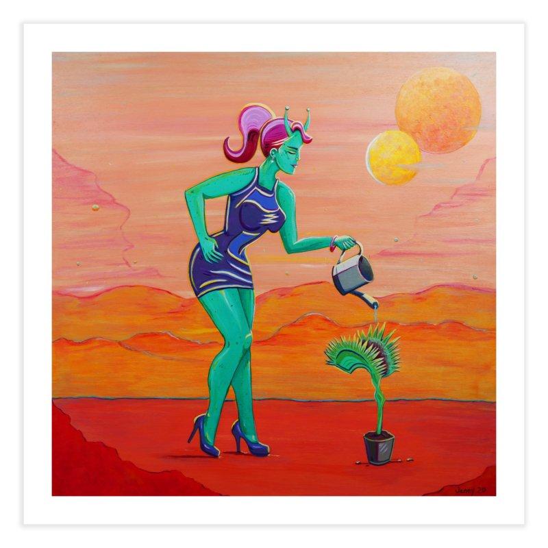 Martian Girl Pin-Up & Venus Fly Trap Home Fine Art Print by artfulworldofjennylynn's Artist Shop