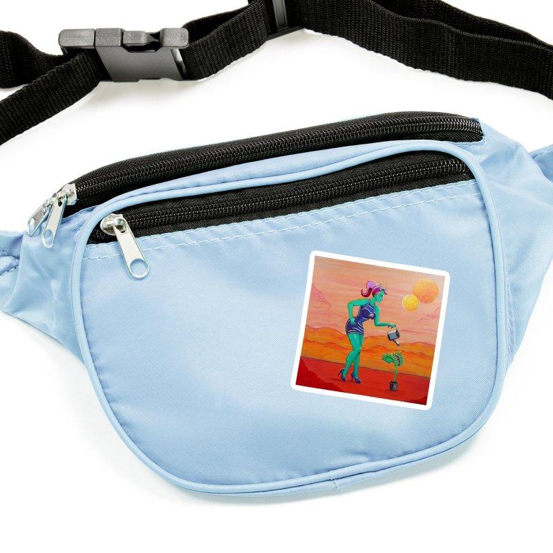 Martian Girl Pin-Up & Venus Fly Trap Accessories Sticker by artfulworldofjennylynn's Artist Shop