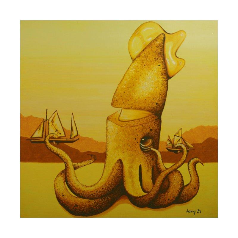 Kraken Home Framed Fine Art Print by artfulworldofjennylynn's Artist Shop