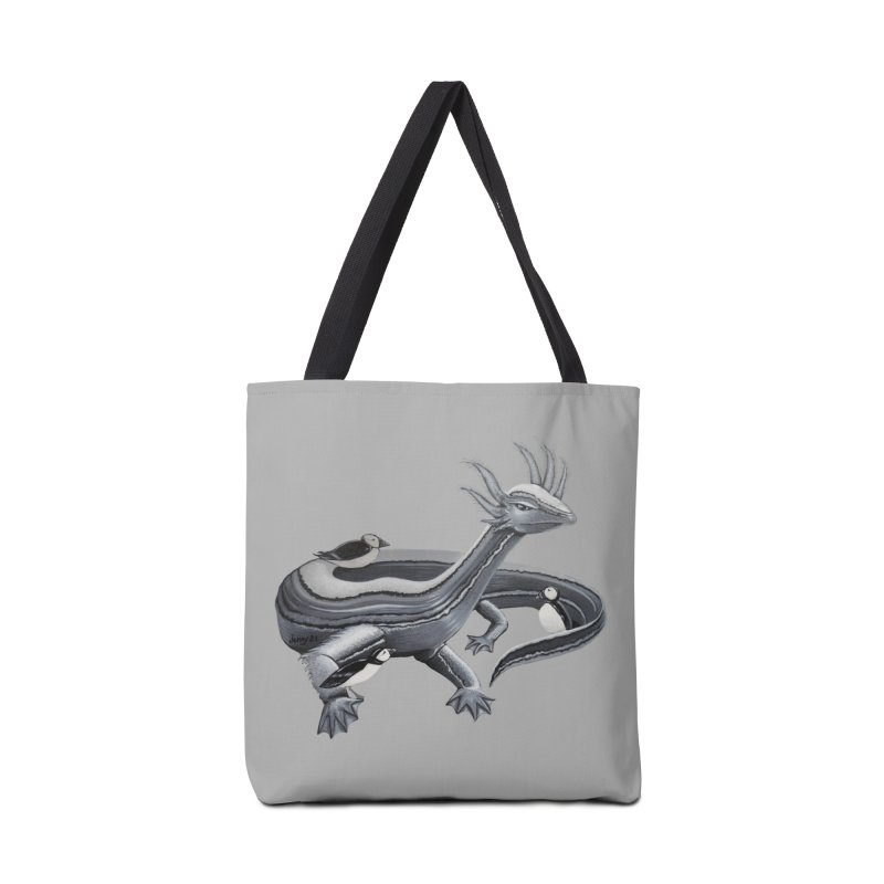 """BLACK & WHITE LOCH NESS MONSTER The """"Cool Cryptids"""" Collection Merchandise Accessories Bag by artfulworldofjennylynn's Artist Shop"""