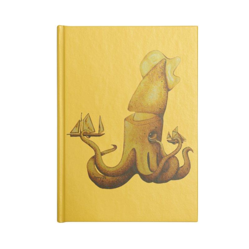 "YELLOW KRAKEN The ""Cool Cryptids"" Collection Merchandise Accessories Notebook by artfulworldofjennylynn's Artist Shop"