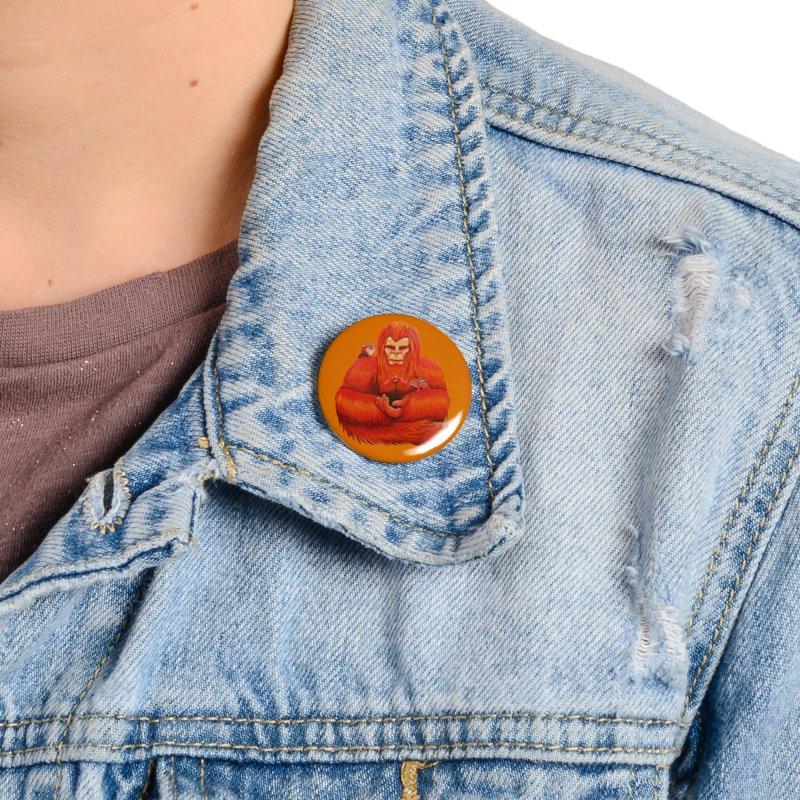 "ORANGE BIGFOOT The ""Cool Cryptids"" Collection Merchandise Accessories Button by artfulworldofjennylynn's Artist Shop"