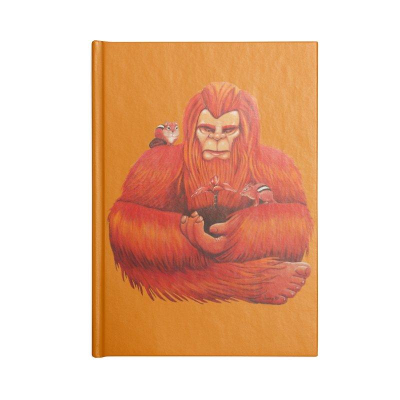 "ORANGE BIGFOOT The ""Cool Cryptids"" Collection Merchandise Accessories Notebook by artfulworldofjennylynn's Artist Shop"