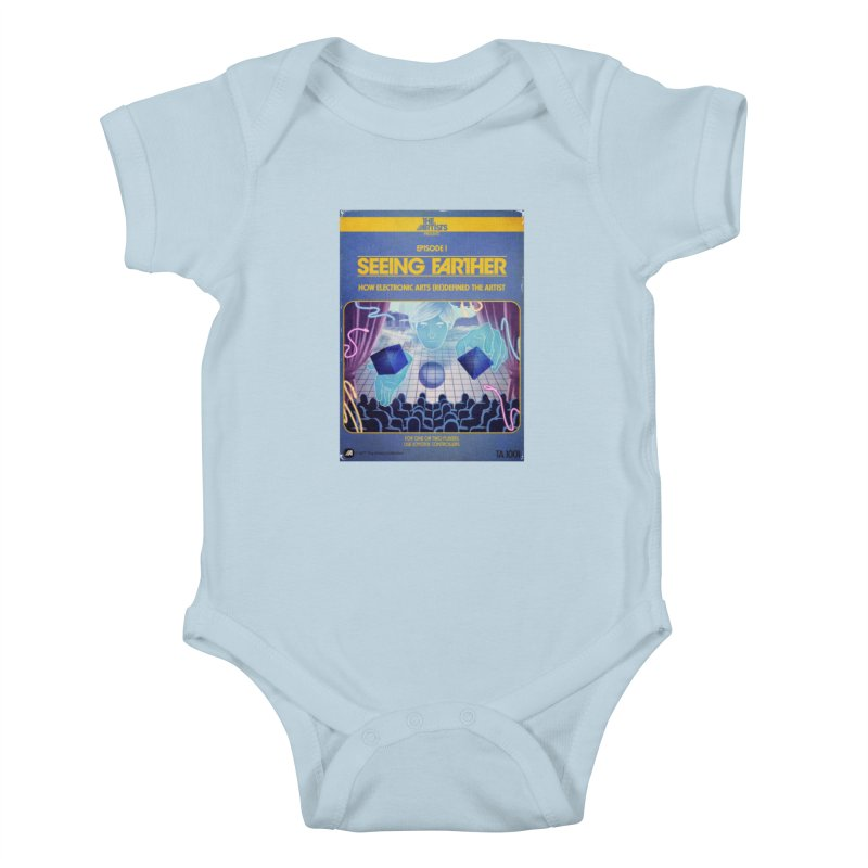 Box Art Apparel Series: Seeing Farther Kids Baby Bodysuit by The Artists