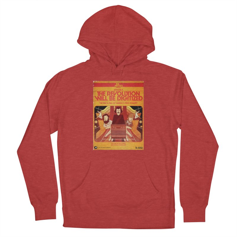 Box Art Apparel Series: The Revolution will be Digitized in Men's French Terry Pullover Hoody Heather Red by The Artists