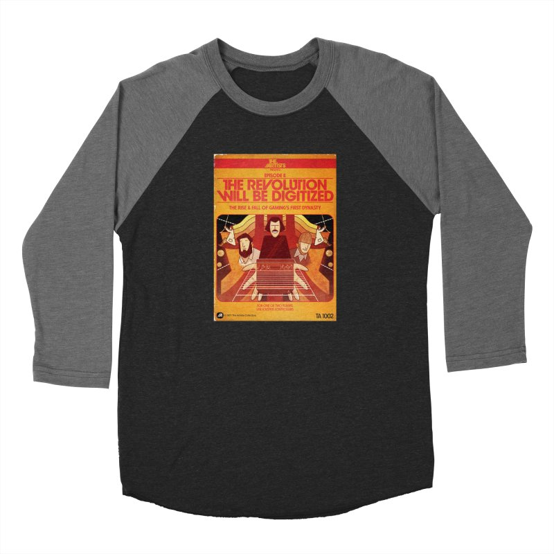 Box Art Apparel Series: The Revolution will be Digitized Men's Baseball Triblend Longsleeve T-Shirt by The Artists