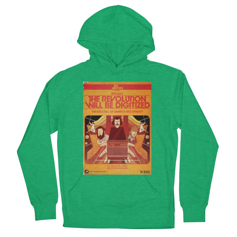 Box Art Apparel Series: The Revolution will be Digitized Men's French Terry Pullover Hoody by The Artists