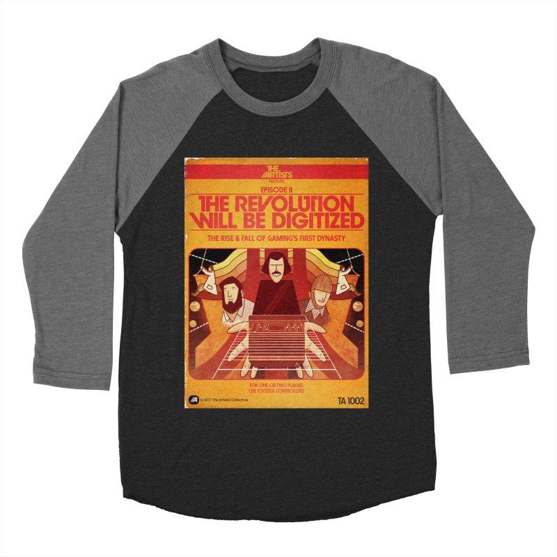 Box Art Apparel Series: The Revolution will be Digitized Men's Baseball Triblend Longsleeve T-Shirt by The Artists