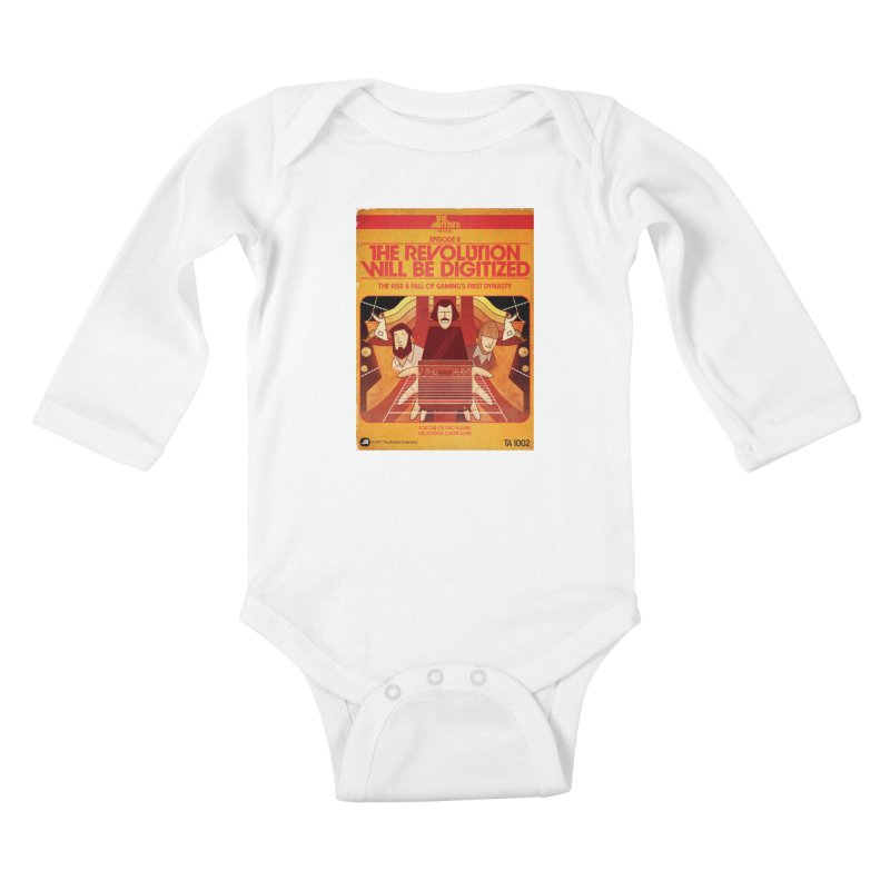 Box Art Apparel Series: The Revolution will be Digitized Kids Baby Longsleeve Bodysuit by The Artists