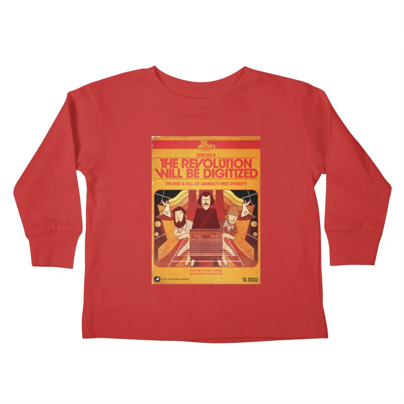 Box Art Apparel Series: The Revolution will be Digitized Kids Toddler Longsleeve T-Shirt by The Artists